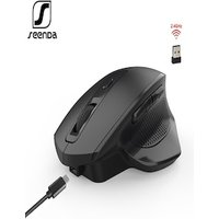 Wireless Gaming Mouse SeenDa Rechargeable with 6 buttons and silent click