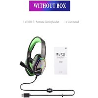 Gaming Headset with RGB Light Noise Canceling and Mic Green