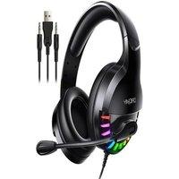 Wired Gamer Headphone Stereo Sound Black