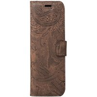 Xiaomi Redmi 4X- Surazo® Phone Case Genuine Leather- Ornament Brown