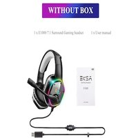 Gaming Headset with RGB Light Noise Canceling and Mic White