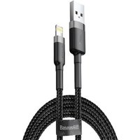 Cable USB Lightning iPhone Baseus Cafule 1.5A 2m CALKLF-CG1 durable good quality black + gray