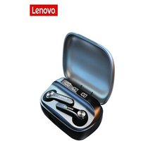 Lenovo QT81 TWS Wireless Stereo Earbuds Waterproof with Microphone HD Call Black