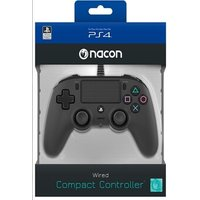 Nacon PS4 Black Wired Compact Controller Black