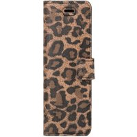 Surazo® Back Case Genuine Leather for phone Xiaomi Redmi 9 - Wallet case - Panther