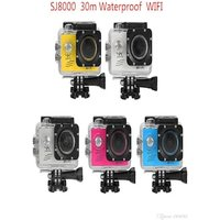 SJ8000 2.0 Inch Sport Action Camera - HD 4K 1080P, Wifi, DV 170 Degree Wide Angle Lens, 30M Waterproof, Remote Yellow