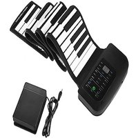 88 Key Rollup Piano Keyboard - 1000mAh Battery, Sustain Peddle, 140 Tones, 128 Rhythms, 30 Demo Songs