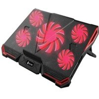 KLIM CYCLONE Laptop Cooler - Maximal Cooling - 5 Fans - Cooling Pad for Computer - Gamer Gaming - New Version Blue