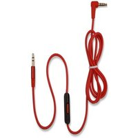 [REYTID] Beats Studio / Studio 2.0 Replacement Red Audio Cable w/ Control Talk & Microphone Red