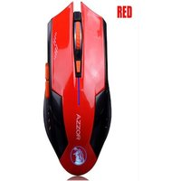 AZZOR Charged Silent Wireless Mouse Red