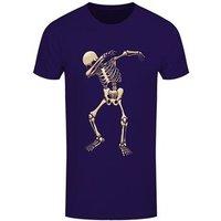 Men's Skeleton Dab Tshirt Purple / Large (Mens 40 to 42)