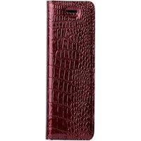 Lenovo / Motorola Moto G4 Play- Surazo® Genuine Leather Smart Magnet RFID- Cayme Red