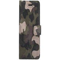 Lenovo / Motorola Moto G5s Plus / G5s+- Surazo® Phone Case Genuine Leather- Military Camouflage Gree