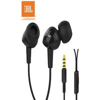 JBL Original 3.5mm Wired Stereo Earphones Deep Bass with Microphone Black