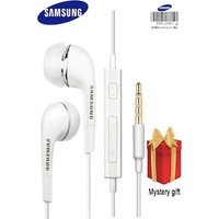 Samsung Earphones with Microphone FREE GIFT White