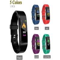 115plus Bluetooth Smart Watch Heart Rate Blood Pressure Monitor Fitness Tracker Bracelet Green