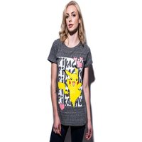POKEMON: Pikachu Love Women's T-Shirt L Gray