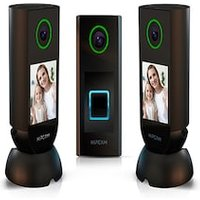 HIPCAM Smart Security Camera Pack Pro 5 (Doorbell + 2 Indoor)Wifi FullHD, Nigth vision Face&Person detection