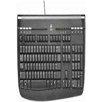 Logitech White Internet 350 keyboard,PS2, EN (US qwerty International layout)