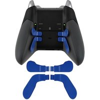 DATA FROG Metal Bumper Trigger Paddles Replacement For Xbox One Elite Controller Blue
