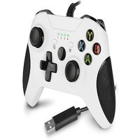 Wired Controller for Xbox One,Xbox one Game with Dual Vibration and Audio Jack for Xbox One/S/X/Win7,8,10 White