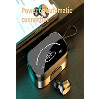 TWSx Bluetooth headset 5.0 mini in-ear high-definition mirror digital display wireless headset 3500 mAh can charge mobil