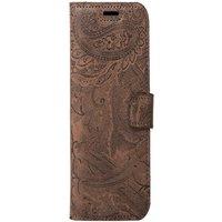 Xiaomi Redmi 7A- Surazo® Phone Case Genuine Leather- Ornament Brown