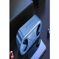 S6 Wireless Bluetooth Speaker Waterproof Portable Outdoor Loudspeaker, Blue