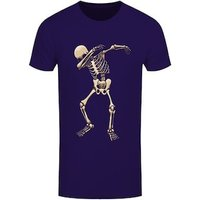 Men's Skeleton Dab Tshirt Purple / XXL (Mens 44 to 46)