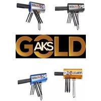 Original The Real Gold AKS Handhold Pro Metal/Gold Detector 6000M Range 6 Antenna Diamond Finder w/Case - Gold