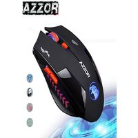 AZZOR Charged Silent Wireless Mouse Black