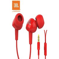 JBL Original 3.5mm Wired Stereo Earphones Deep Bass with Microphone Red