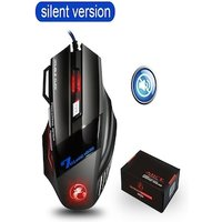 Wired X7 ergonomic silent Mouse with 7 buttons for PC games LOL CS for Windows and IOS