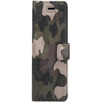 Lenovo / Motorola Moto G5 Plus / G5+- Surazo® Phone Case Genuine Leather- Military Camouflage Green