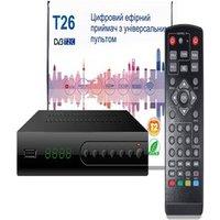 T26 DVB T2 C Smart TV Box Full HD 1080P STB HDTV H.264 TV Digital Terrestrial Receiver EU PLUG