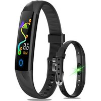 IP68 Waterproof Smart Watch with Fitness Tracker blood pressure heart rate monitor - Black