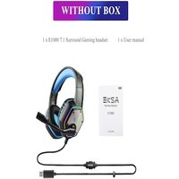 Gaming Headset with RGB Light Noise Canceling and Mic Blue