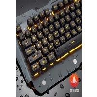 2021x Mechanical Keyboard RGB LED Backlight Plug And Play White/Black Keyboard Ergonomic Design Waterproof Gaming Keyboa Black