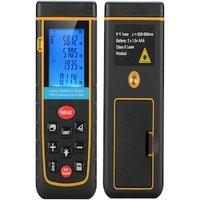 Digital Laser Tape Measure - 0.05 To 100 Meter Range, Spirit Level, IP54, 1/4 Inch Tripod Thread, Carry Case