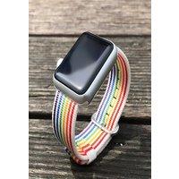 Rainbow Watchband Nylon Strap for Apple Watch iWatch 5/4/3/2/1 42mm 44mm