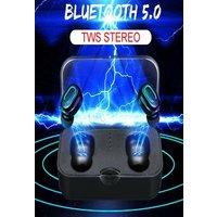 T18 TWS Mini Bluetooth Earphones - Mini TWS Wireless Bluetooth 5.0 Earbuds Stereo Twin Headset Sport Bass