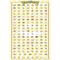 Pokemon Kanto 151 PKMN Door Poster 53x158cm