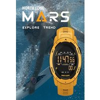 Mars Men Digital Watch Men's Military Sport Watches Waterproof 50M Pedometer Calories Stopwatch Hourly Alarm Clock Yellow