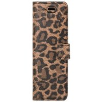 Surazo® Back Case Genuine Leather for phone Xiaomi Redmi Note 10 Pro - Wallet case - Panther