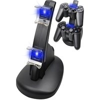 Controller Charger Dock LED Dual USB