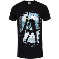YoRHa No. 2 Men's Silhouette Black Tshirt / Medium (Mens 38 to 40)