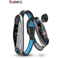 LEMFO LT04 Fitness Bracelet Wireless Bluetooth Earphone 2 In 1 Bluetooth 5.0 Chip IP67 Waterproof Sport Silver CHINA