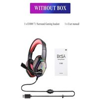 Gaming Headset with RGB Light Noise Canceling and Mic Red