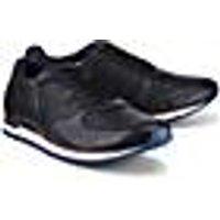 Bugatti City, Leder-Sneaker in schwarz, Sneaker für Herren