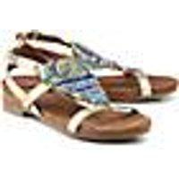 Ethno-Sandale von COX in gold für Damen. Gr. 36,37,38,39